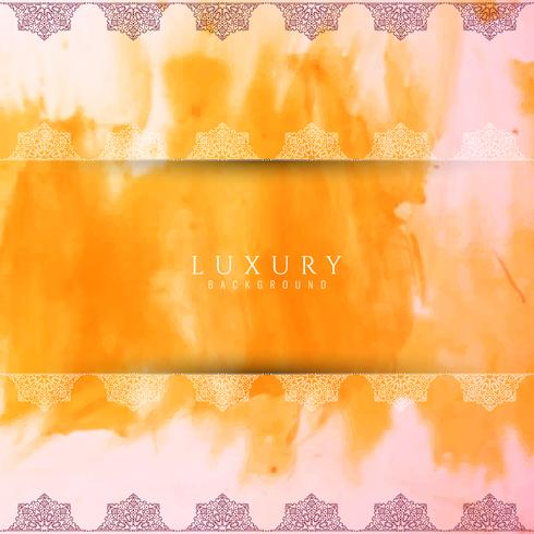 Abstract artistic luxury watercolor background vector