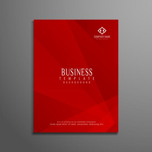 Modèle de brochure entreprise géométrique abstraite