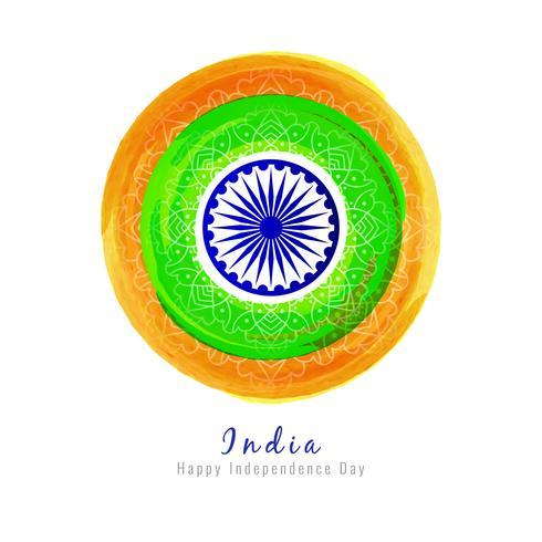 Abstrato bandeira indiana tema aquarela design de fundo
