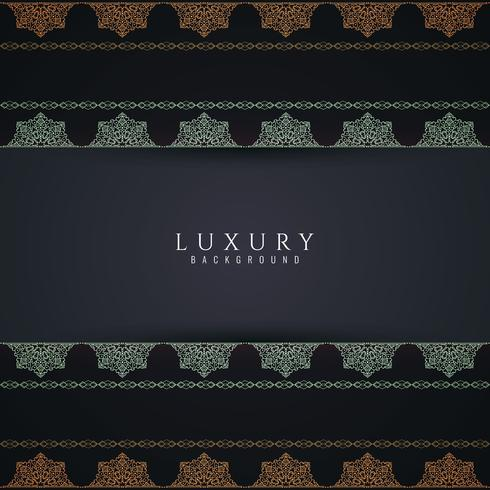 Abstract decorative luxury mandala background vector