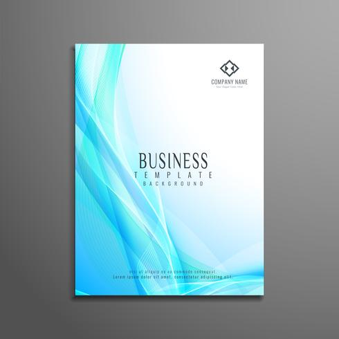 Abstract wavy business brochure design vector