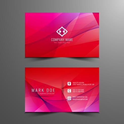 Diseño de tarjeta de visita ondulado moderno abstracto