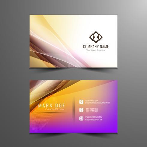 Plantilla de tarjeta de visita ondulado abstracto