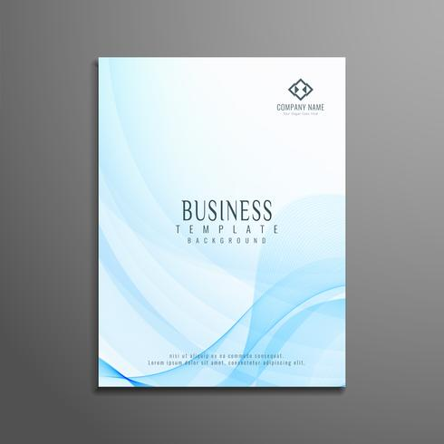 Abstract wavy business brochure template vector