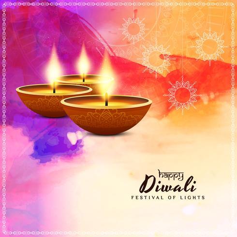 Diseño abstracto feliz del fondo de Diwali