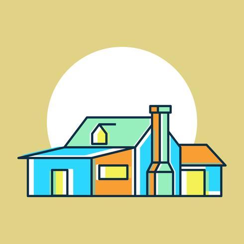 Casa única exterior acuarela vectores