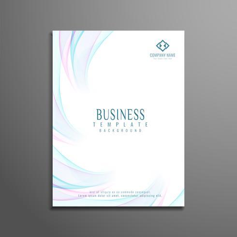 Plantilla de folleto de negocio ondulado abstracto