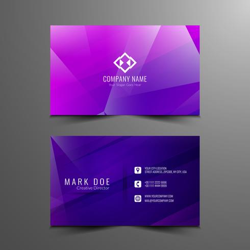 Abstract modern colorful polygonal visiting card design