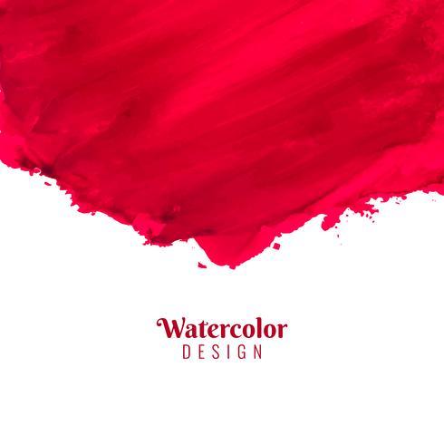 Fundo abstrato vermelho aquarela golpe