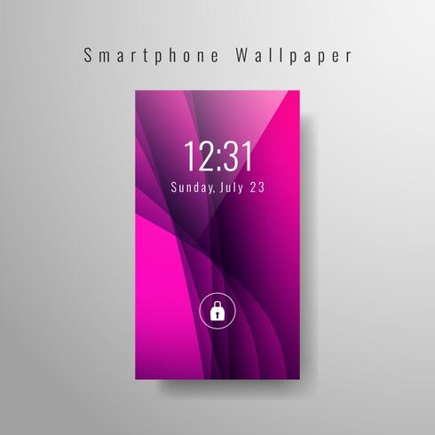 Conception ondulée de fond d'écran abstrait smartphone