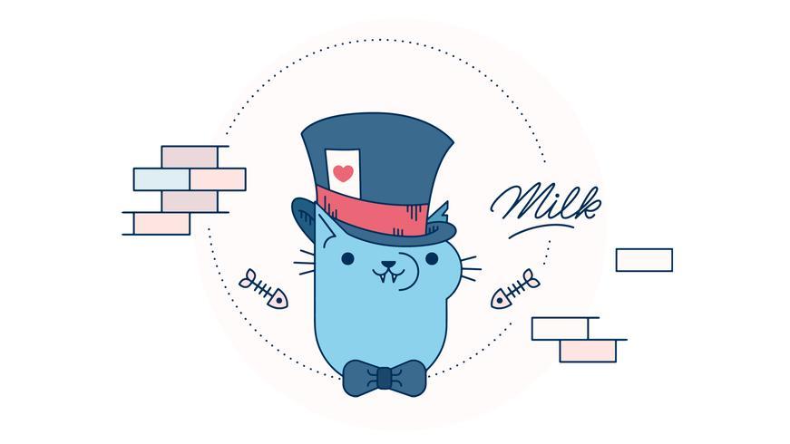 Vecteur de joueur de chat