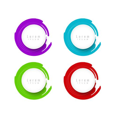 Jeu d'insignes icônes bannière coloré abstrait