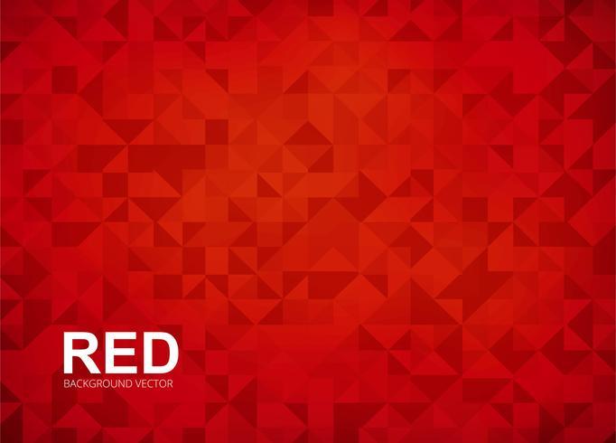 Abstarct vecteur de fond de polygone rouge