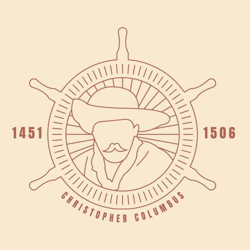 Funky Christopher Columbus Vecteurs