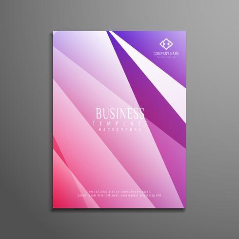Modelo de folheto de negócios abstrato colorido polígono