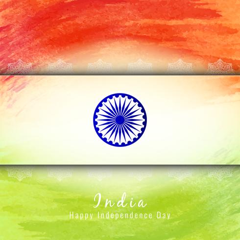 Abstract Indian Flag Theme Watercolor Design Background Download