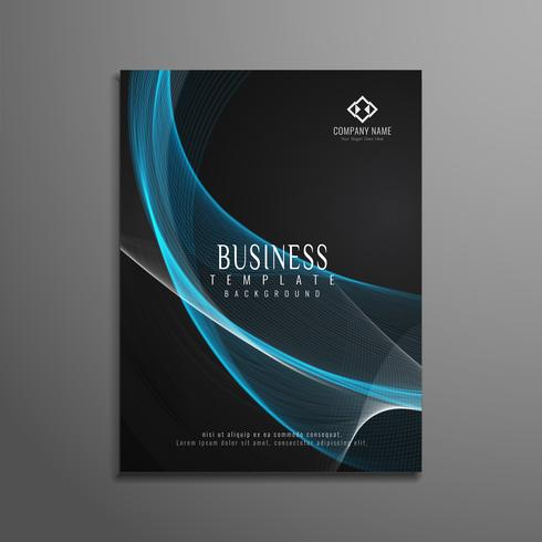 Abstract wavy elegant business brochure template vector