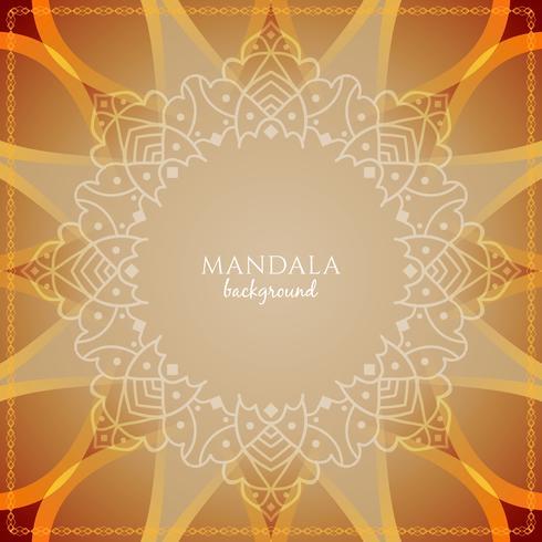 Abstracte decoratieve luxe mandala achtergrond vector