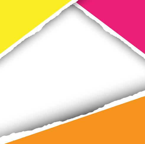 Papel moderno colorido corte backgrund
