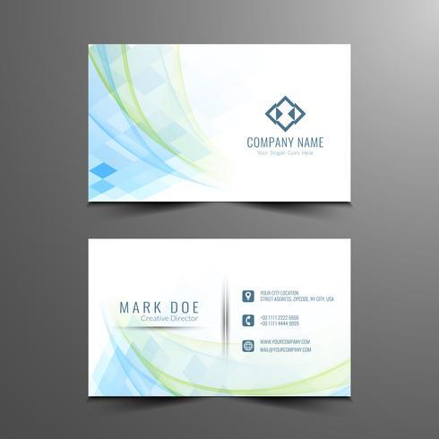 Plantilla de tarjeta de visita con estilo abstracto