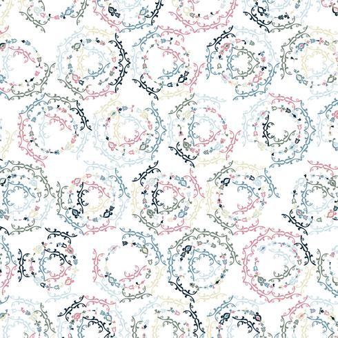 Ilustración de fondo de patrón floral colorido moderno