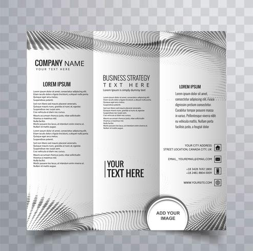 modern trifold brochure design vector