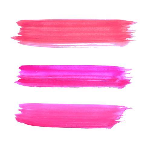 Schönes rosa Aquarell streicht Design