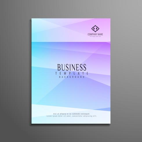 Folleto moderno abstracto colorido polígono de negocios