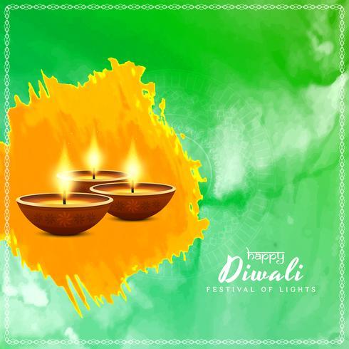 Abstraktes glückliches Diwali-Vektorhintergrunddesign