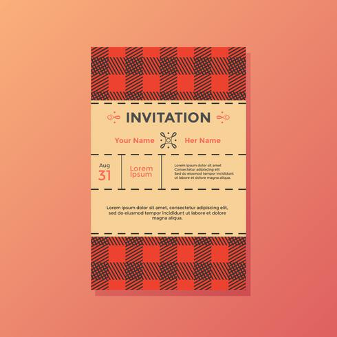 Buffalo Plaid uitnodiging Vector