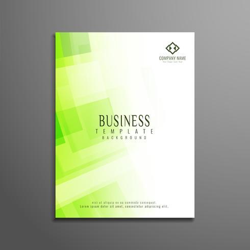 Abstrakte grüne polygonale Geschäftsbroschürenschablone