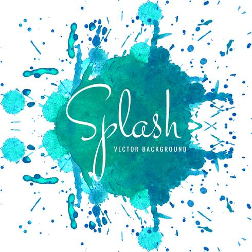 Abstract blue watercolor spalsh design