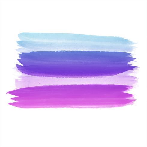 Elegant watercolor colorful stroke vector