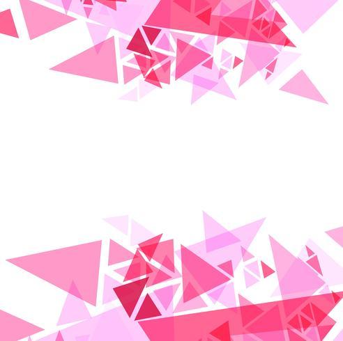 Abstrakte rosa Dreiecke Hintergrund Illustration