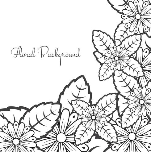 Abstract lace floral background vector