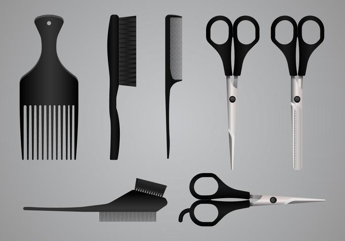 Realistische Salon-Werkzeuge und Ausrüstung