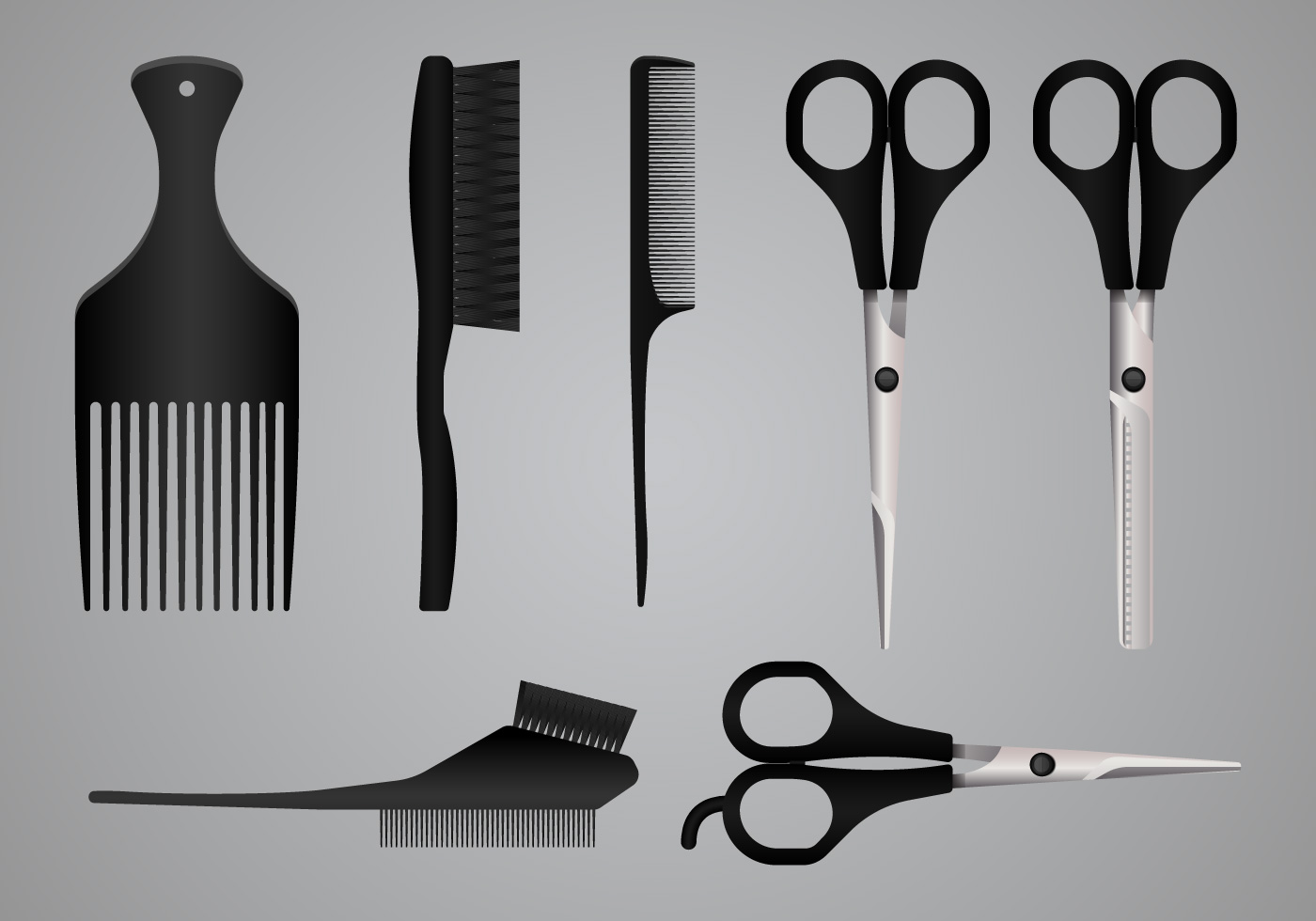 realistic salon tools  equipment