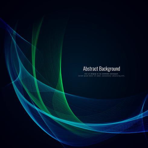 Abstrakt våg stil färgstarka design bakgrund