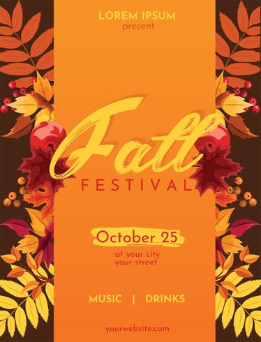 Conception de vecteur Flyer automne Fest