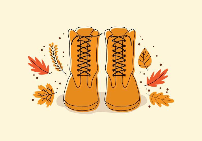 Unas botas en otoño