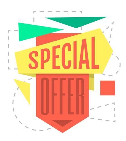 Oferta especial vetor