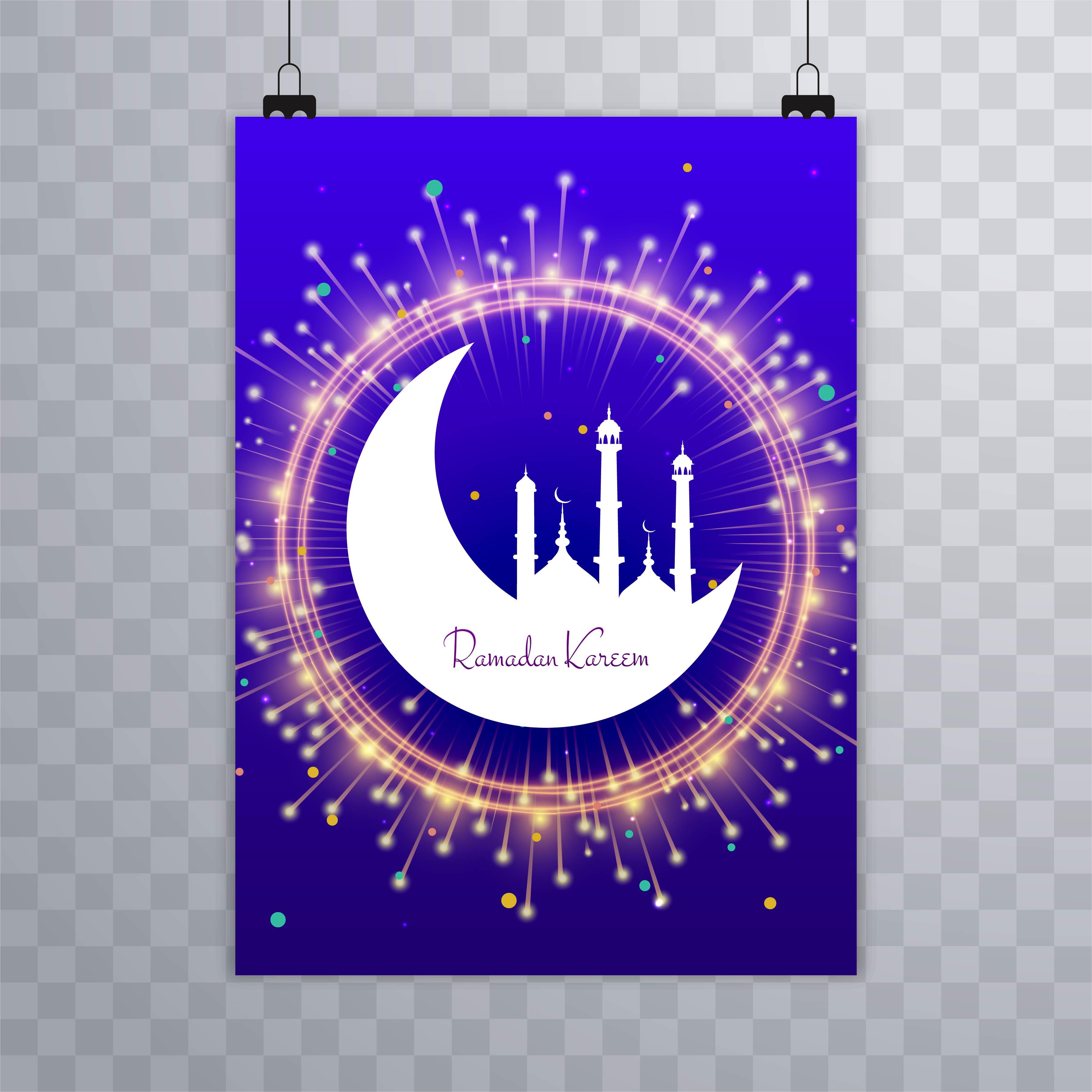 beautiful eid mubarak religious shiny brochure template