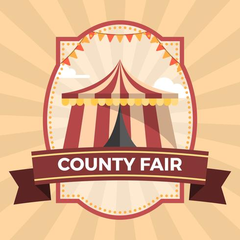 Platte County Fair Badge Poster Illustratie Sjabloon