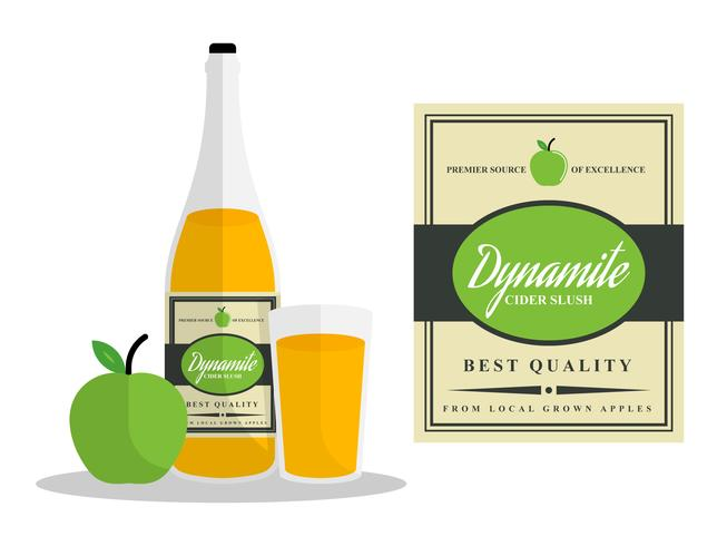 Hervorragende Apple Cider Slush Vektoren