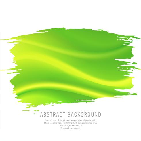 Abstract watercolor green wave background