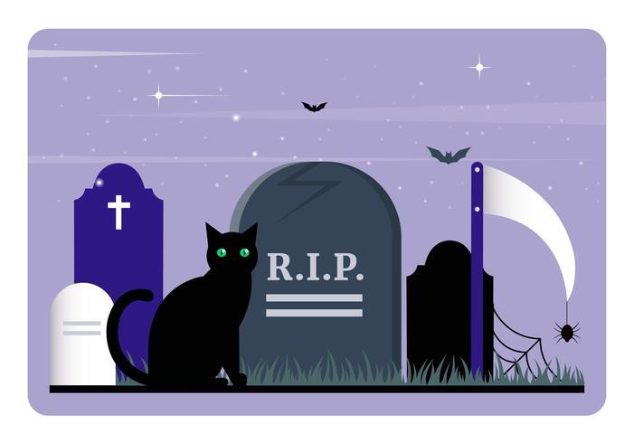 Vektor Halloween element och tillbehör