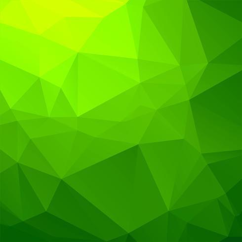 Elegante groene geometrische veelhoekachtergrond