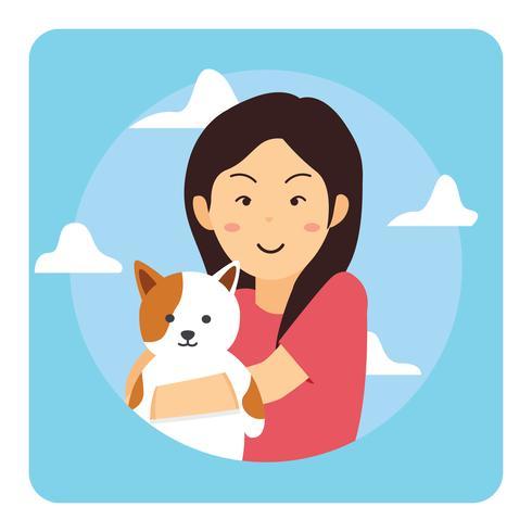 Meisje en haar kat portret