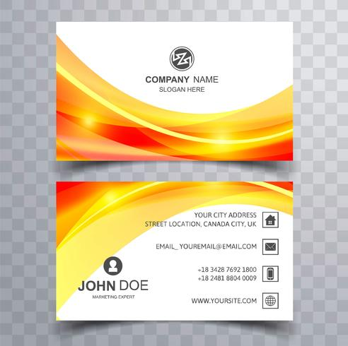 Elegante wellige Visitenkarte Wellen Design-Vorlage