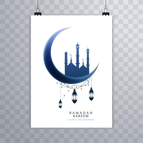 Elegant Ramadan Kareem-brochureontwerp